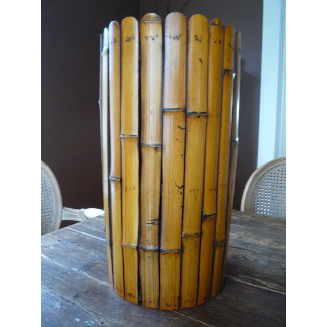 Bamboo Umbrella Stand with Liner - Image 2 of 5