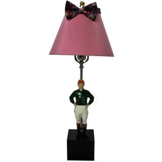 """21"" Club Jockey Dresser Lamp"