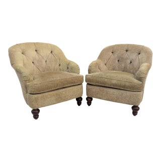 Southwood Chesterfield Style Club Chairs - A Pair
