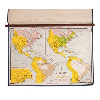 Vintage Partition of America Map