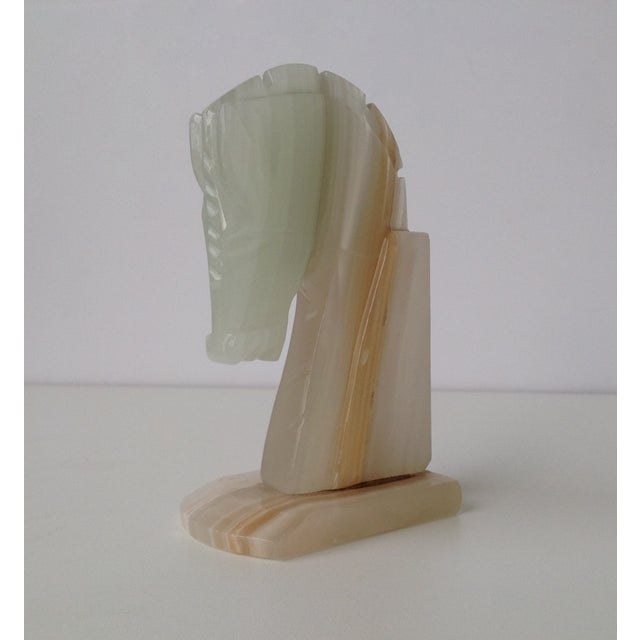 Vintage Onyx Trojan Horse Bookend - Image 5 of 9