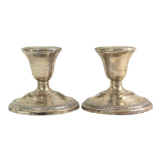 Vintage Rogers Sterling Silver Candleholders - A Pair
