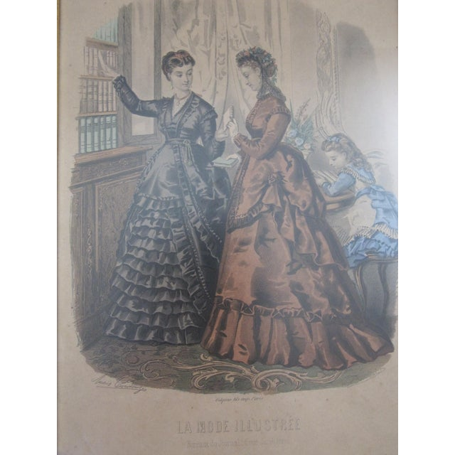 Antique French Fashion Prints - A Pair - Image 4 of 8