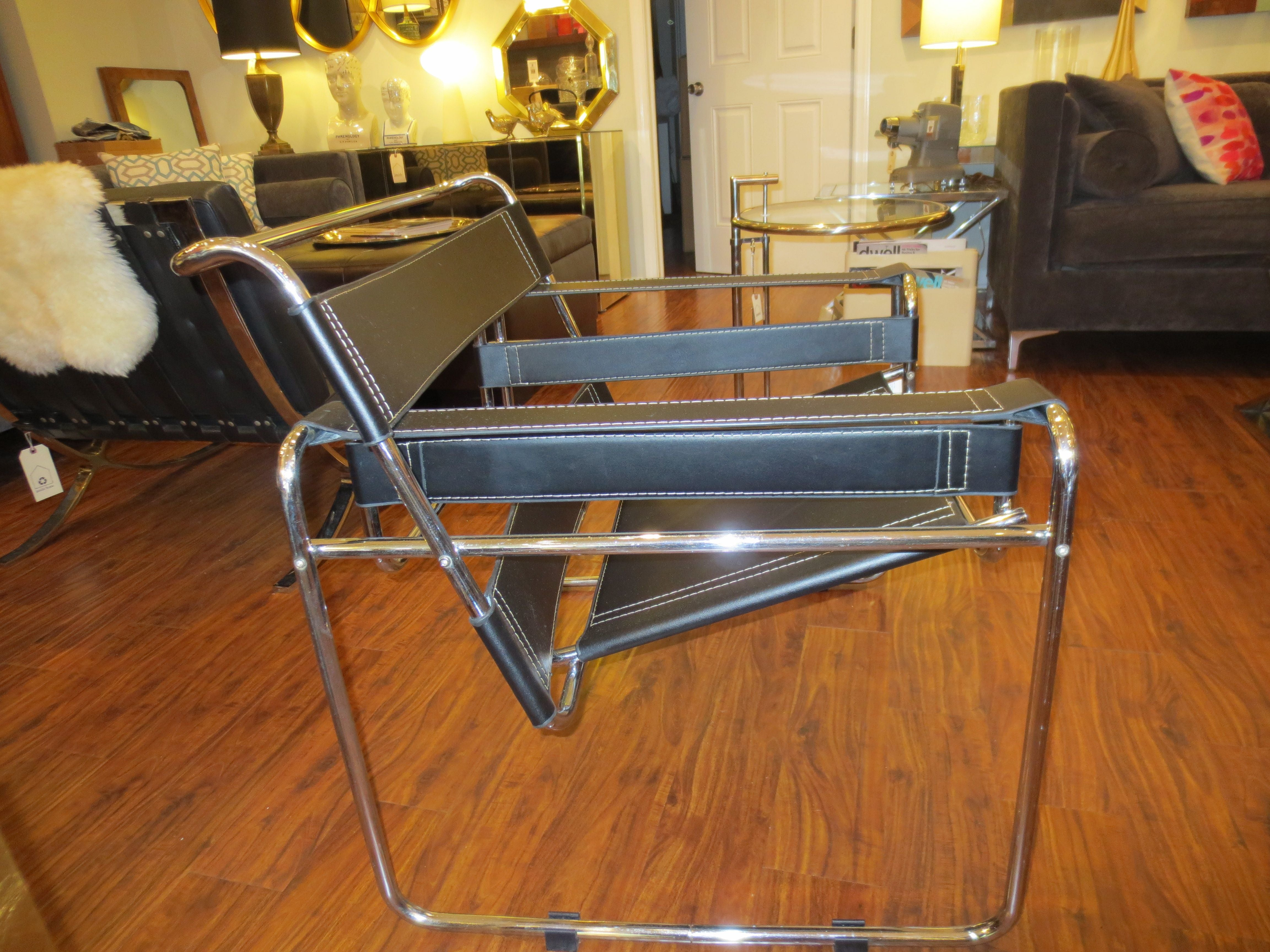Vintage wassily style chair chairish