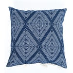 Image of Navy Blue Diamond Handwoven Pillow