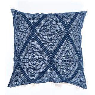 Navy Blue Diamond Handwoven Pillow