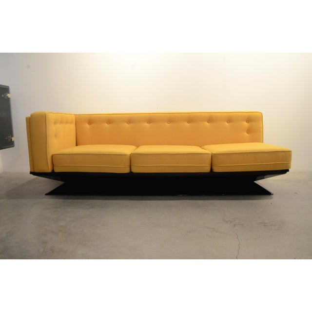 Upholstered in a New Yellow Knoll Wool MIM Roma (Ico Parisi) Sectional Sofa by Luigi Pellegrin - Image 5 of 10