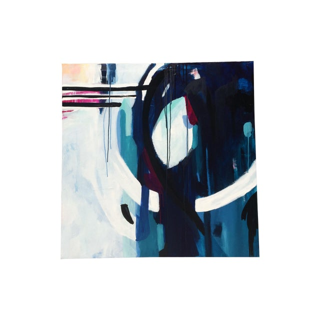 Image of Contemporary Abstract Blue Moon Painting