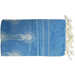 'Deco Squid' Linen Towel