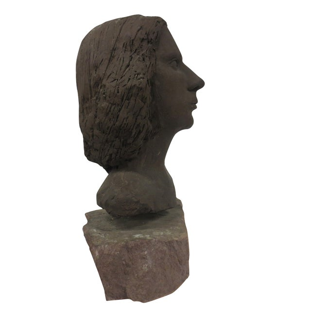 Terracotta Bust of Young Woman - Image 3 of 8
