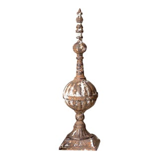 Rustic Tabletop Metal Finial
