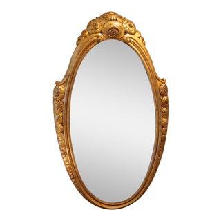 Paul Follot Oval Wall Mirror