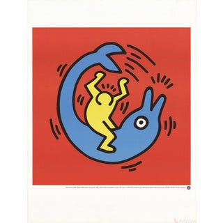 "Keith Haring ""Dolphin Button"" Poster"