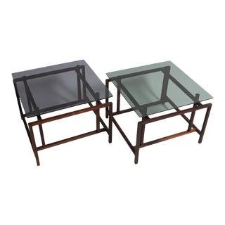 Rosewood Norgaaard Smoked Glass Coffee Tables