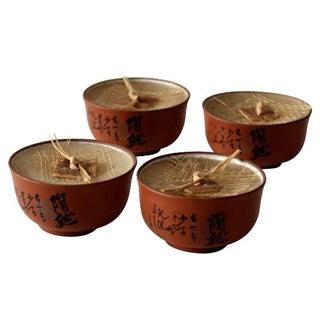 Vintage Asian Tea Lights - Set of 4