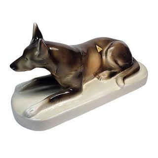 Royal Dux Porcelain German Shepherd