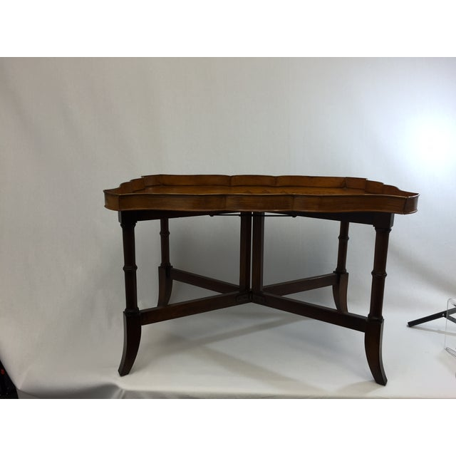 Faux Bamboo & Painted Metal Coffee Table
