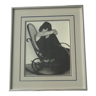 """Woman in Bentwood Rocker"" Vintage Photograph"