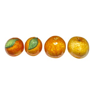 Orange and Tangerine Salt & Pepper Shakers - Set of 4