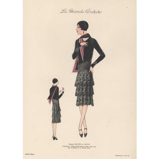 1920s Art Deco French Fashion Print