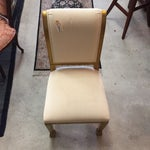 Image of Gold Edged Dining Chairs - 4 available. $75.00 eac