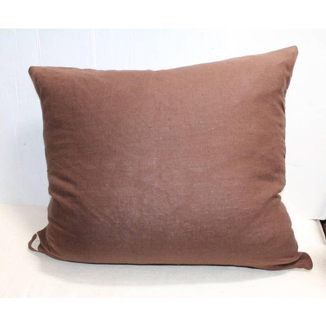 Image of Monumental Navajo Indian Eye Dazzler Weaving Pillow