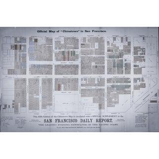 1885 San Francisco Chinatown Map Print