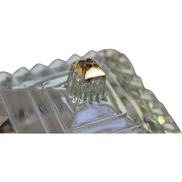 Image of Glass & Gold Candy Dish