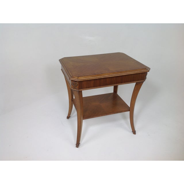 Modern Walnut End Table - Image 4 of 5