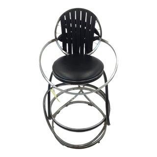 Any Gregg Handmade Chrome & Black Bike High Chair