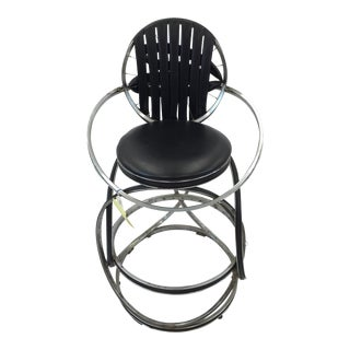 Any Gregg Handmade Chrome & Black Bike High Chair