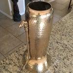 Image of Mid-Century Hammered Brass Vase