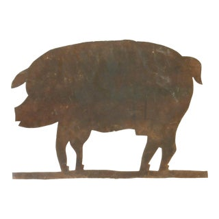 19th C. Pig Weathervane