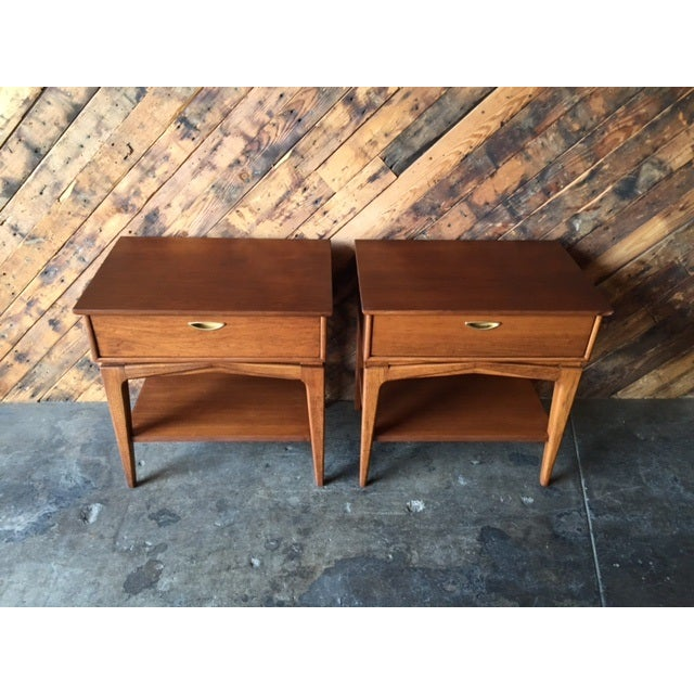 Mid-Century Refinished Kent Nightstands - Pair - Image 7 of 7