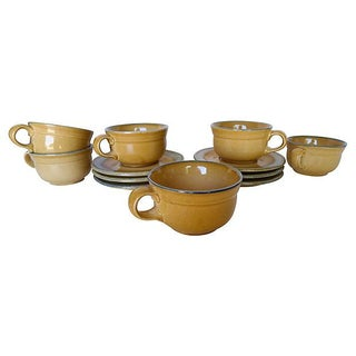 French Country Tea or Coffee Cups - S/6