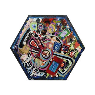 Antjuan Oden Hexagon Assemblage Painting