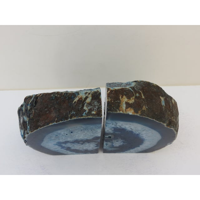 Blue Geode Bookends - A Pair - Image 5 of 7
