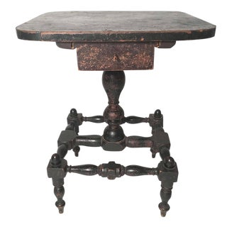 Early American Country Side Table, circa 1820-1830