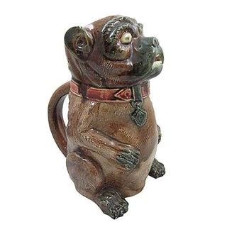 Antique Staffordshire Pug Dog Jug