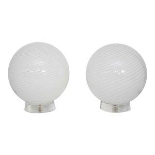 Large Vetri Murano Orb Lamps