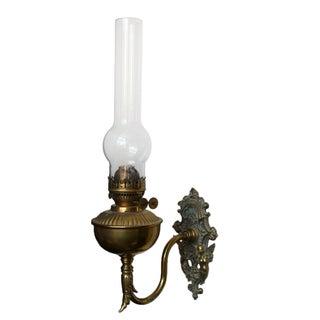 Brass Wall Bracket Oil Lamp