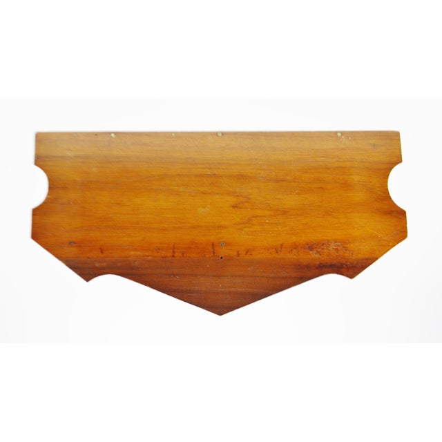 Vintage Scrolled Mahogany Wall Shelf - Image 8 of 11