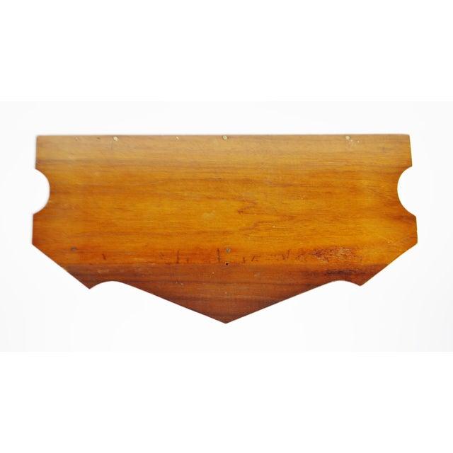 Image of Vintage Scrolled Mahogany Wall Shelf