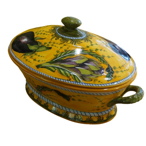 Tuscan Hand-Painted Tureen - Image 1 of 5