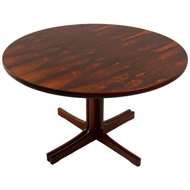 image of danish modern rosewood round expanding table