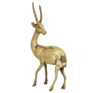 Brass Gazelle Figurine