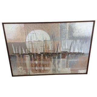 MCM Artmaster Studios Moonlit Sailboats Painting