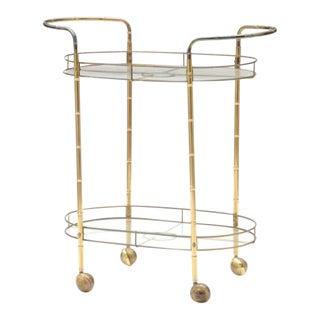 Vintage Brass Bar Cart