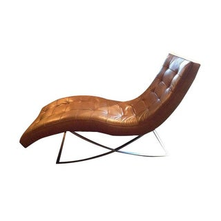 Tan Leather Chaise