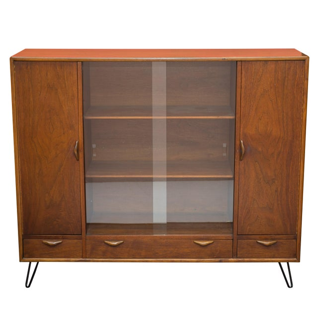Mid Century Bookcase/China Hutch by Lane - Image 1 of 6